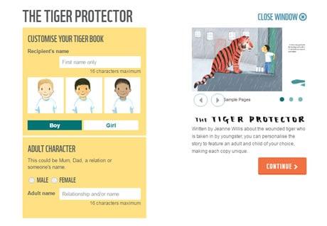 WWF Tiger Protector Book