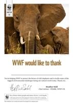 Adopt an Elephant Certificate