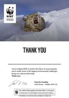 Adopt a Snow Leopard Certificate